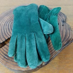 4/20Land's End Green Pig Split Suede Gloves size S